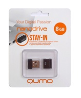Накопитель Flash USB drive QUMO 8Gb Nano black RET