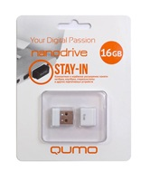 Накопитель Flash USB drive QUMO 16Gb Nano white RET