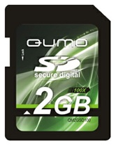 Карта памяти  Secure Digital Card 2GB QUMO  [QM2GSD]