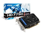 Видеокарта MSI PCI-E Radeon HD7750 2GB DDR3 (128bit) 800/1600 DVI-I/DP/HDMI (R7750-2GD3) RTL