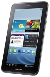 "Планшет Samsung Galaxy Tab 2 7.0 GT-P3110TSASER 7"" LED/OMAP 4430 (1GHz)/1Gb/8Gb/WiFi(n)/BT 3.0/GPS/Cam 3Mp+0.3Mp/4000mAh/And 4.0/Silver"
