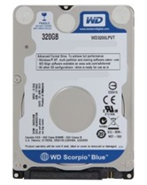 "Жесткий диск 2,5"" 320Gb WD3200LPVT (SATA 3Gb/s, 5400 rpm, 8Mb, Low profile) Scorpio Blue"