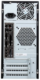 Корпус INWIN ENR036BL (Mini Tower, mATX, 400W RB-S400T70, USB+Audio, черно-серебристый) <6101403>