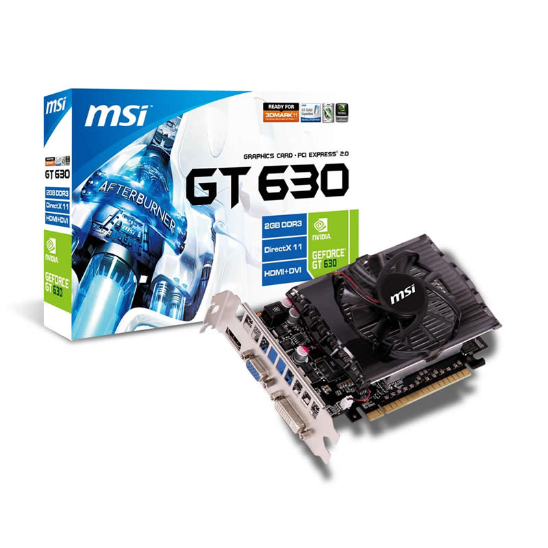 Видеокарта MSI GeForce GT630 2GB DDR3 128bit 810/1000 DVI-I/D-Sub/HDMI (N630-2GD3) RTL