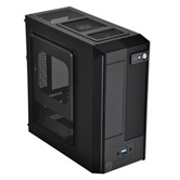 Корпус Thermaltake VP11821N2E SD101 black 180W БП miniITX 2*USB2.0, HD Audio, APFC,Window