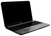 Ноутбук Toshiba Satellite L850-D1S <PSKG6R-00800GRU> 15.6 HD/Intel Pentium B980/4GB/500GB/Shared/DVD±RW/WiFi/BT/WebCam/Win8 SL/Gloss Shining silver with Crossline