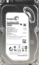 Жесткий диск 2Tb Seagate ST2000VX003 (SATA 6Gb/s, 5900 rpm, 64Mb) Survillance HDD