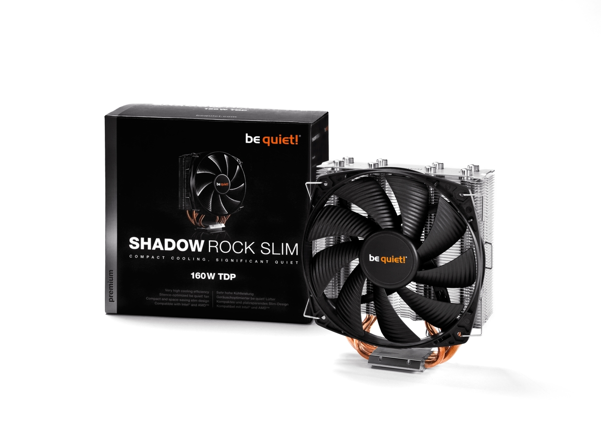 Кулер be quiet! SHADOW ROCK SLIM / LGA 775,115x,1366,2011-3; 754,939,940,AM2+,AM3+,FM1,FM2+ / 160W TDP / PWM / BK010 / RTL