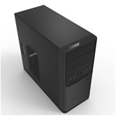Корпус POWERMAN ES701BK USB 3.0 (Mini Tower, mATX, 450W PM-450ATX, USB 3.0x2, USBx2 + Audio, черный) <6120258>
