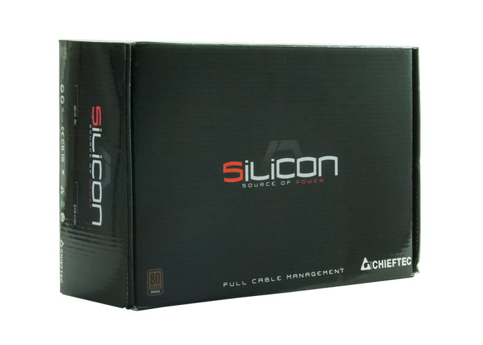 Блок питания Chieftec Silicon SLC-850C (ATX 2.3, 850W, 80 PLUS BRONZE, Active PFC, 140mm fan, Full Cable Management) Retail