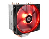 Кулер ID-COOLING SE-224M-R LGA20XX/LGA1366/LGA115X/AM4/AM3/+/AM2/+/FM2/+/FM1 (16шт/кор, TDP 150W, PWM, 4 тепл.трубки прямого контакта, FAN 120mm, Red LED) RET