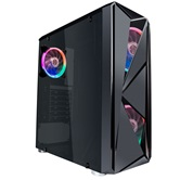 Корпус 1STPLAYER FIREROSE F4 / ATX, tempered glass side panels / 3x 120mm LED fans inc. / F4-3R1