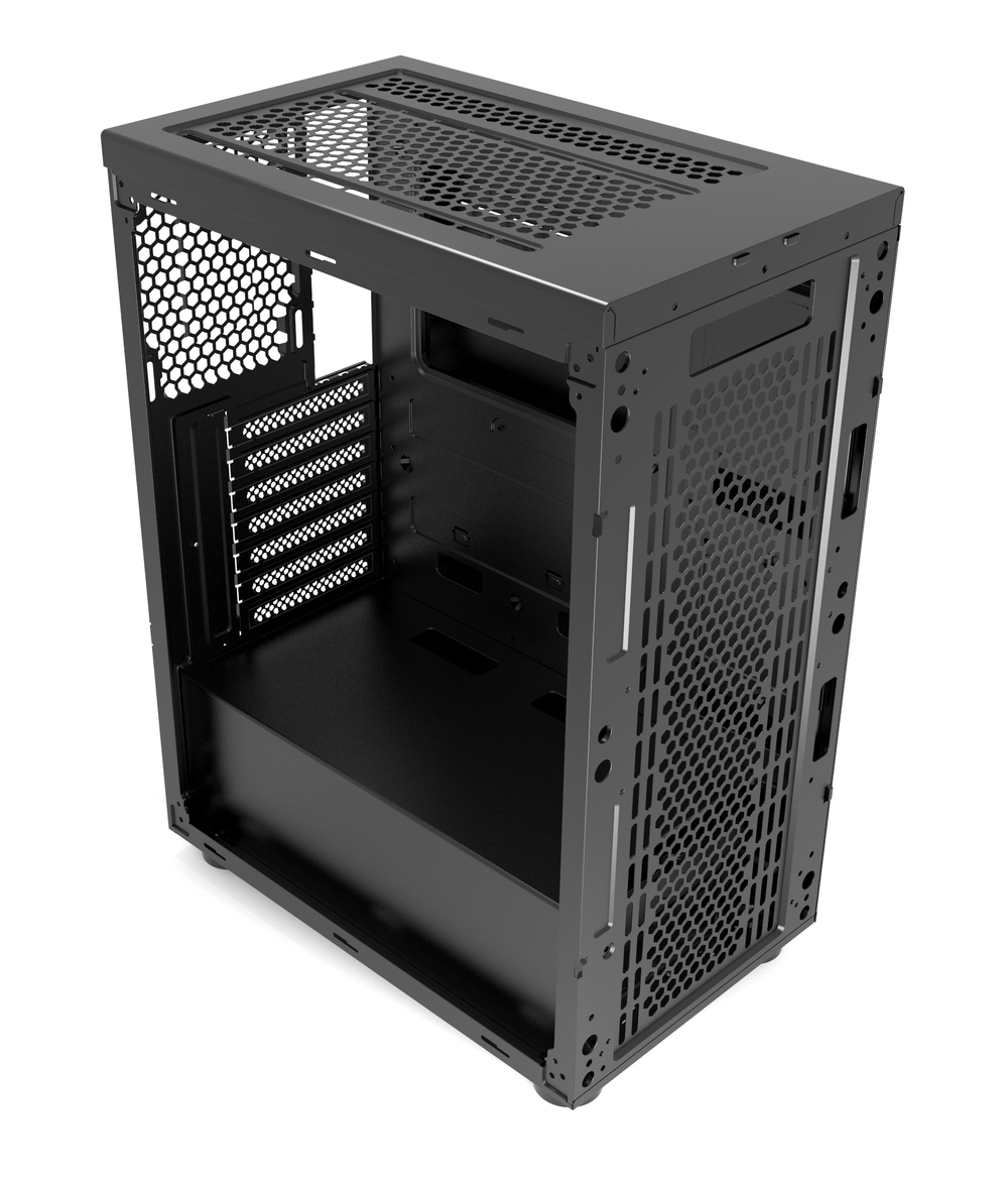 Корпус 1STPLAYER RAINBOW R6-A / ATX, tempered glass side panel / 1x 120mm LED fan inc. / R6-A-1R1