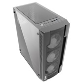Корпус Powercase Mistral X4 Mesh, Tempered Glass, 4x 120mm fan, чёрный, ATX  (CMIXB-F4)