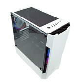 Корпус Powercase Alisio X3 White ARGB, Tempered Glass, 2х 120mm fan + 1x 120mm ARGB fan, ARGB Strip inside, белый, ATX  (CAXW-F2A1)
