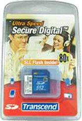 Накопитель Secure Digital Card 512MB Transcend 80x [TS512MSD80] Ultimate High speed  Retail