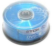 Диск DVD-R 4,7Gb TDK 16x  Cake box, 25шт