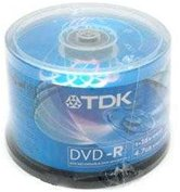 Диск DVD-R 4,7Gb TDK 16x  Cake box, 50шт