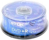 Диск DVD+R 4,7Gb TDK 16x  Cake box, 25шт