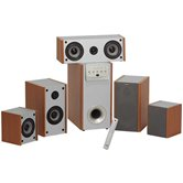 Колонки SVEN IHOO MT5.1 Champagne Yellow/Wooden Home Theater Speaker System (5колонок +Subwoofer)