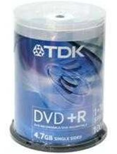 Диск DVD+R 4,7Gb TDK 16x  Cake box, 100шт