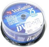 Диск DVD+R 4,7Gb Verbatim 16x  Cake box, 25шт Inkjet Printable