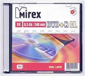 Диск DVD+R 8.5Gb Mirex Dual Layer  8x, Slim  [UL130062A8S]