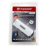 Накопитель Flash USB drive Transcend JetFlash V10 Sliding  4Gb White ret [TS4GJFV10]