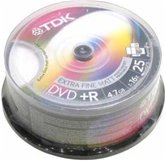 Диск DVD+R 4,7Gb TDK 16x  Cake box, 25шт, Photo Printable
