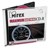 Диск CD-R 700Mb Mirex MAXIMUM 52x  Slim, 5шт  [120052A8F]