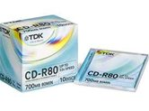 Диск CD-R 700Mb TDK 52x  Jewel, 10шт