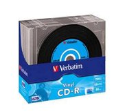 Диск CD-R 700Mb Verbatim 52x  Slim DL+, 10шт, Vinyl