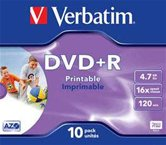 Диск DVD+R 4,7Gb Verbatim 16x  Jewel, 10шт, Photo Printable