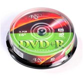 Диск DVD+R 4,7Gb VS 16x Cake box,  10шт