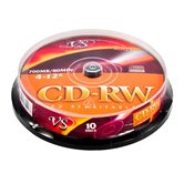 Диск CD-RW 700Mb VS 12x Cake box,  10шт