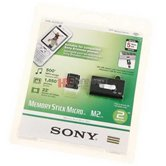 Карта памяти SONY Memory Stick M2 2GB  Original  в комплекте с card reader  USB [MS-A2GU2]