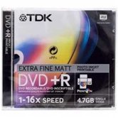 Диск DVD+R 4,7Gb TDK 16x  Slim, 5шт, Photo Printable