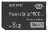 Карта памяти SONY Memory Stick 8GB PRO DUO MarkII  High-speed  ORIGINAL [MS-HX8//K]