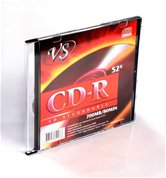 Диск CD-R 700Mb VS 52x Slim,  5шт