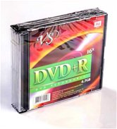 Диск DVD+R 4,7Gb VS 16x Slim,  5шт