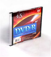 Диск DVD-R 4,7Gb VS 16x Slim,  5шт