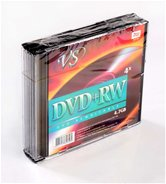 Диск DVD+RW 4,7Gb VS 4x Slim Case, 5шт