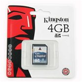 Карта памяти Secure Digital Card 4Gb Kingston [SD4/4GB] Class4