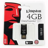 Накопитель Flash USB drive KINGSTON Data Traveler 4Gb  MiniSlim black [DTMS/4G]