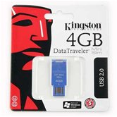 Накопитель Flash USB drive KINGSTON Data Traveler 4Gb  MiniSlim blue [DTMSB/4G]