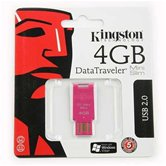 Накопитель Flash USB drive KINGSTON Data Traveler 4Gb  MiniSlim Pink( розовый) [DTMSN/4GB]