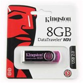 Накопитель Flash USB drive KINGSTON Data Traveler 8Gb RET Pink ( розовый)  [DT101N/8Gb]