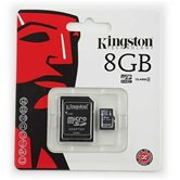 Карта памяти MicroSD Card 8GB  Kingston  SDHC Class 4 +  адаптер SD [SDC4/8GB]