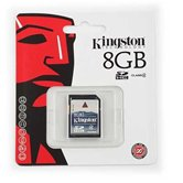 Карта памяти Secure Digital Card 8Gb Kingston [SD4/8GB] Class4