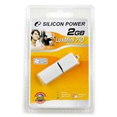 Накопитель Flash USB Drive Silicon Power LuxMini 710 2Gb  silver алюминий  ( Retail)
